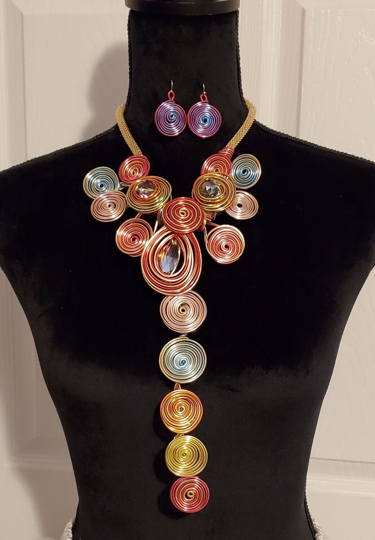 Rainbow 🌈  Shines Thru Necklace Set