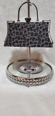Cheetah Print Evening Pursenality (Black Grey)