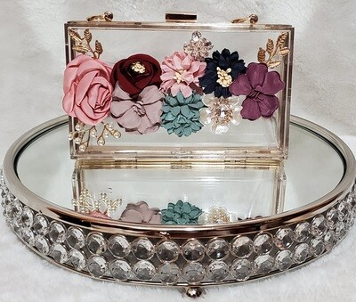 Floral Clear Glass Pursenality
