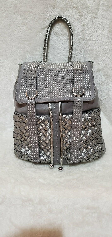 Embellished Silver Fox Backpack