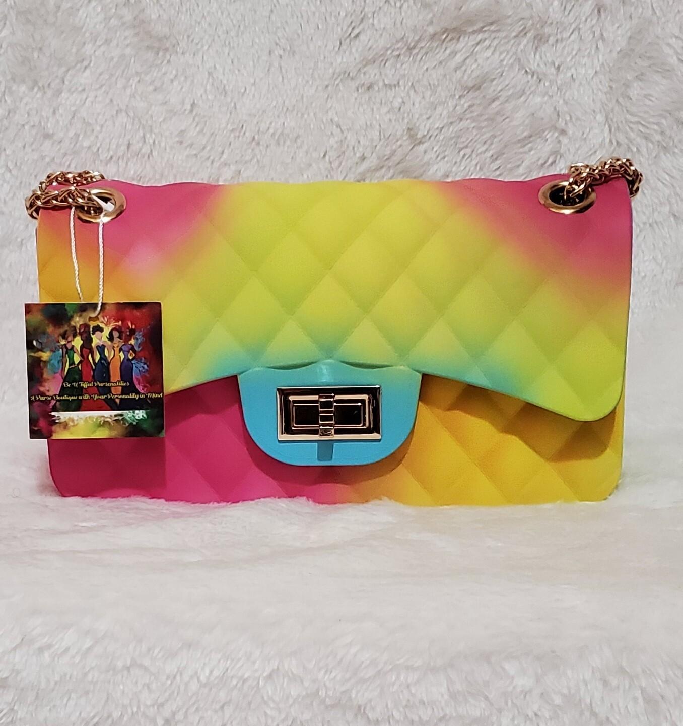 Medium Rainbow  🌈  Jelly Designer Inspired  Pursenality
