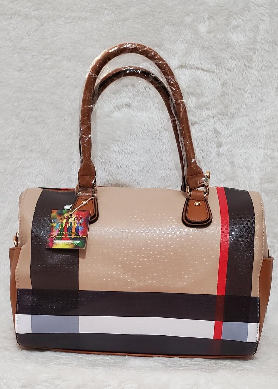 Designer Inspired  Checkered Handbag w/ Crossbody Strap