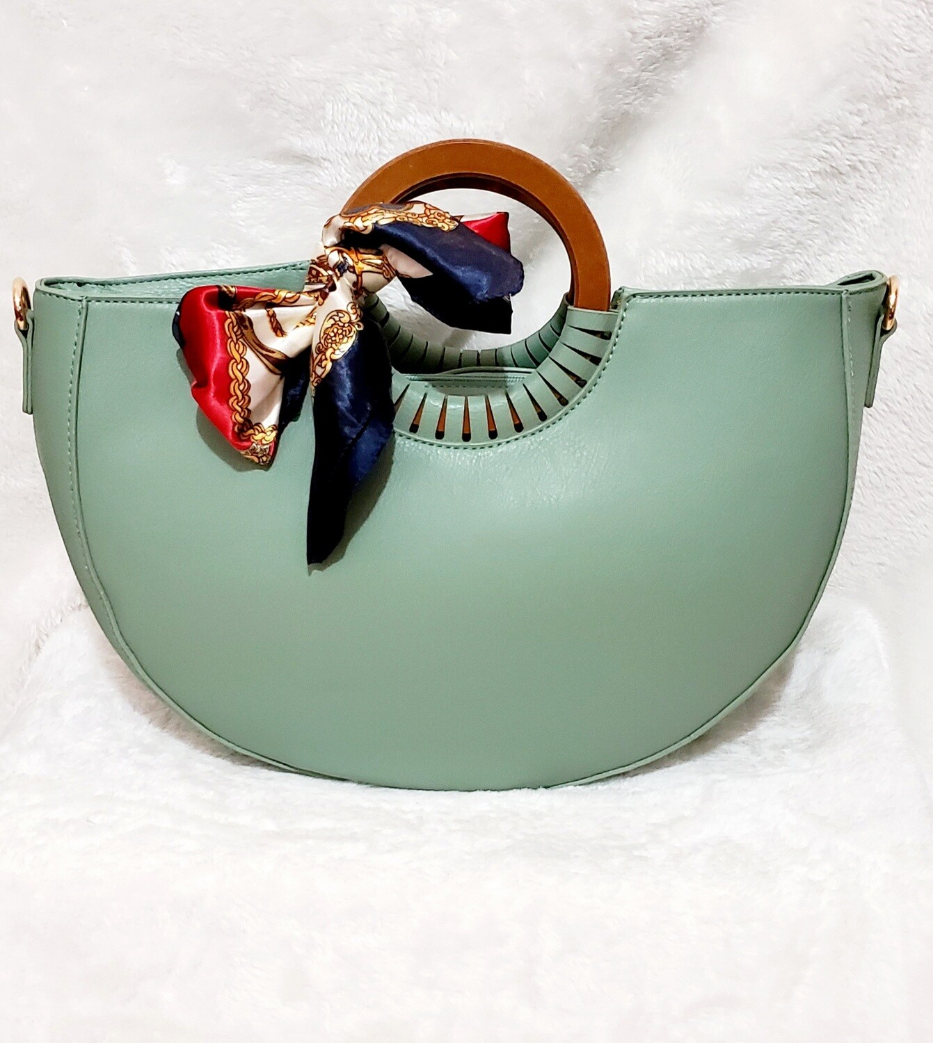 Designer Inspired Hand Tote (Soft Green)