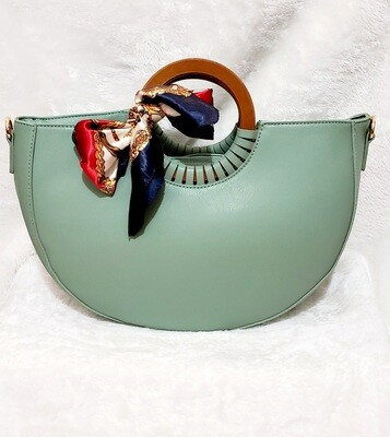 Designer Inspired Hand Tote (Soft Green)