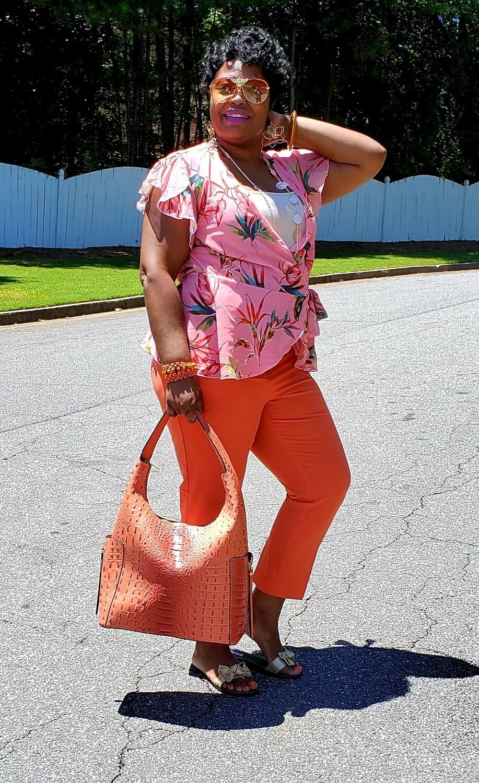 Designer Inspired  Croc Hobo Pursenality (Burnt Orange)