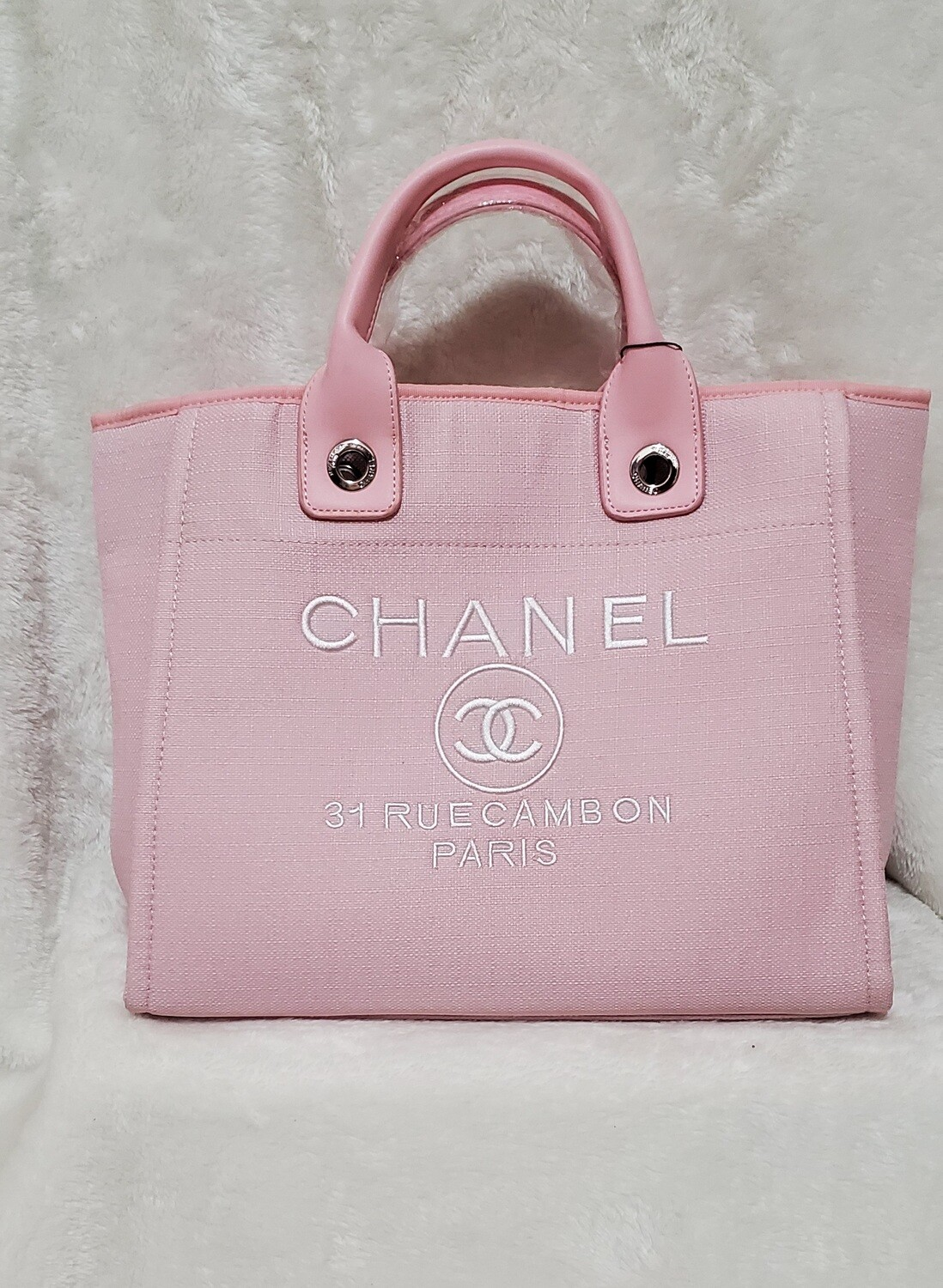 Large Pink Chanel Tote