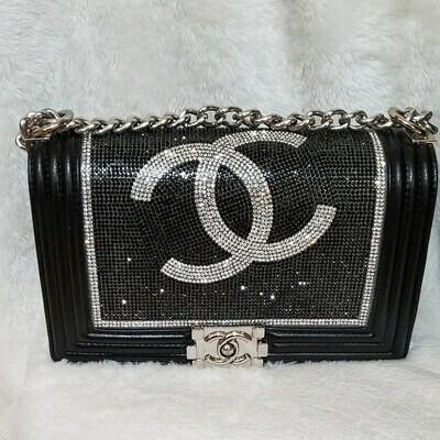 Chanel Double CC Rhinestone Crossbody