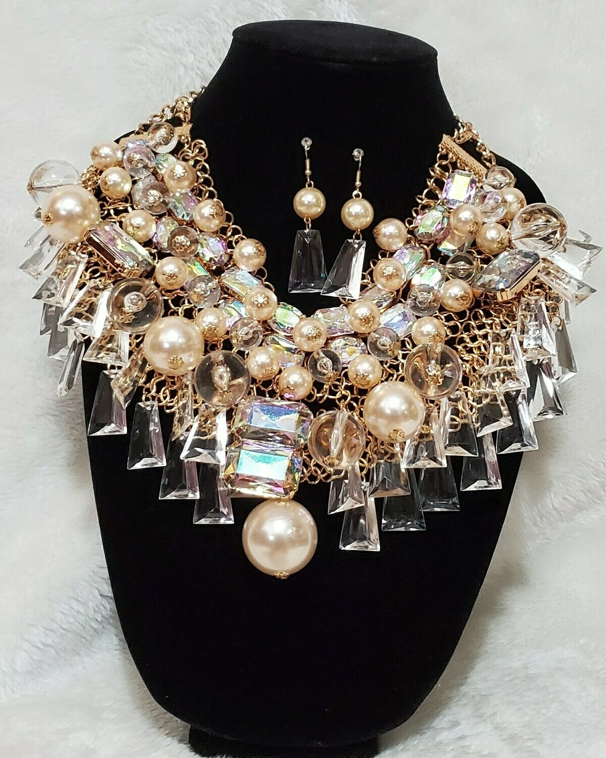 Exotic Pearl and Gold Statement Piece