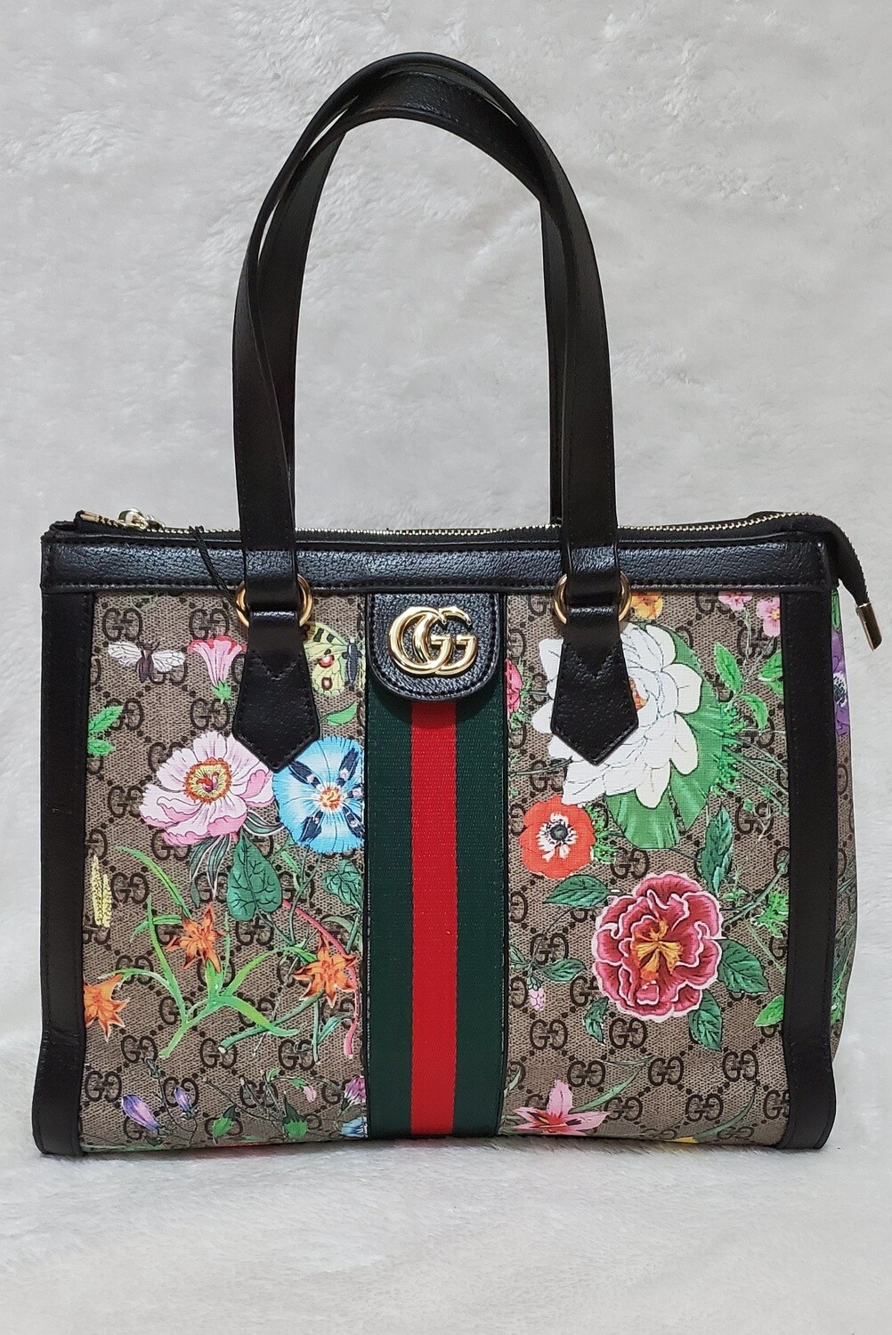 Ophidia GG Flora Small Tote Bag