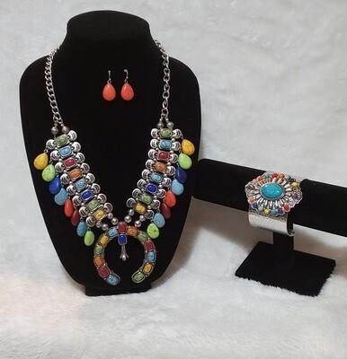 Rainbow Claw Design set with Bracelet