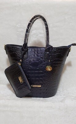 Brahmin Midnight Blue Satchel with Coin Purse