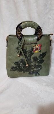 Forest Floral Green Handbag/Crossbody