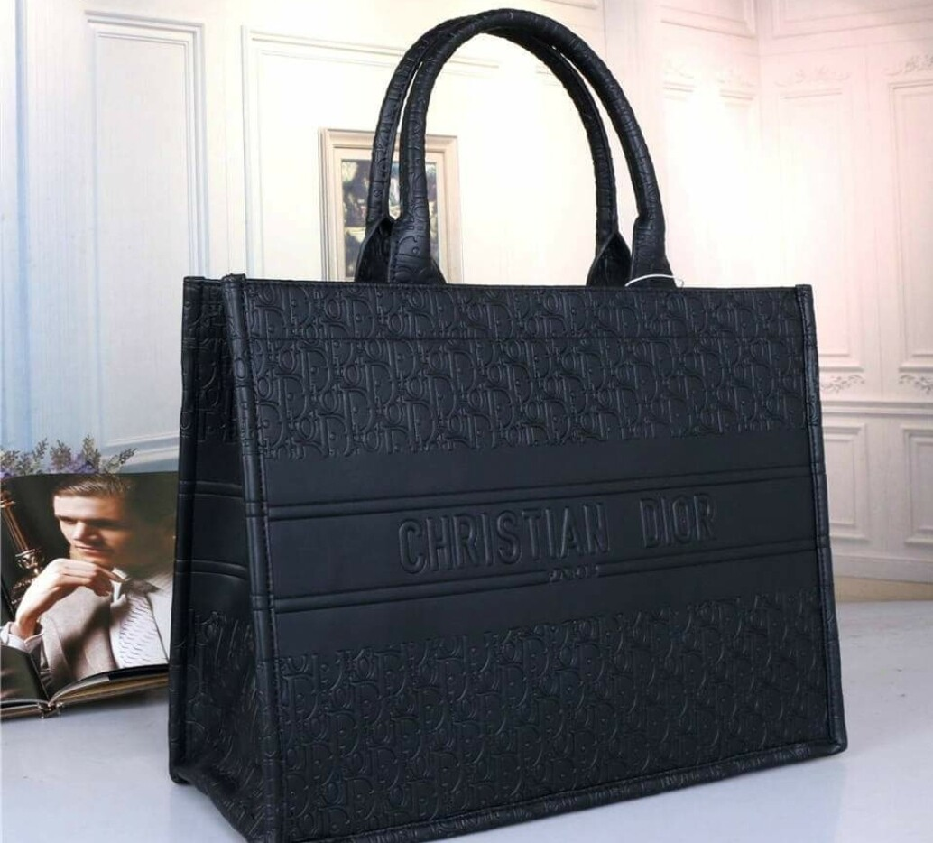 Black Christian Dior Tote Bag