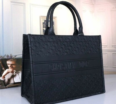 Black Christian Dior Tote Bag