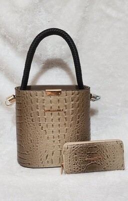 Designer Inspired Tote with Wallet