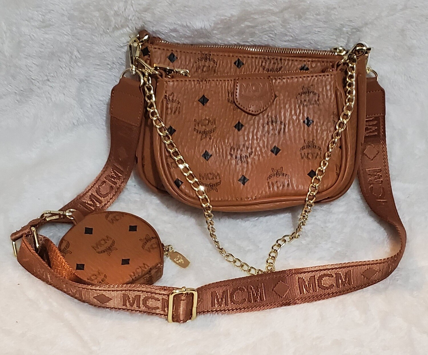 MCM 3set Crossbody, Purse Coin Bag