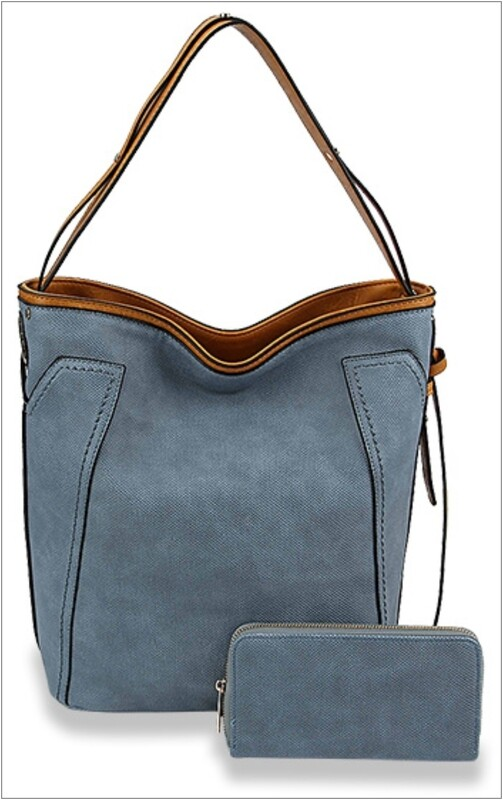Faux Denim Style with Wallet