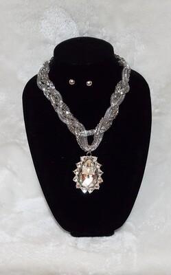 Crystal Stone Necklace Set