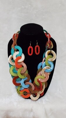 Links Necklace and Earring Set