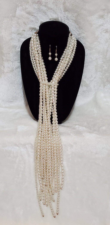 Long  Multi Pearls Set