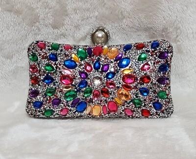 Rainbow Glitz Evening Bag