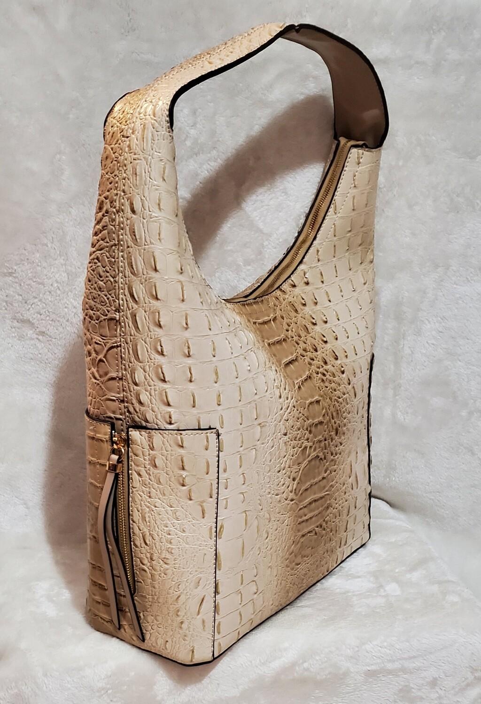 Inspired Beige Croc Pursenality