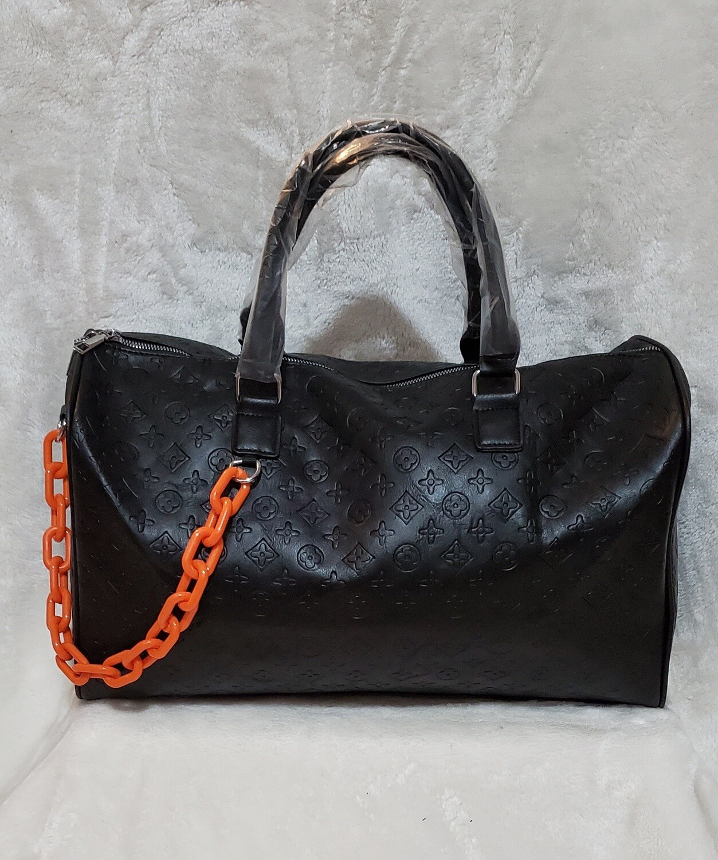 Black Inspired Duffle Orange Chain