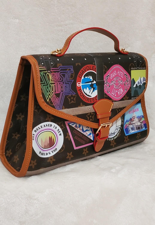 Inspired Travel Stamped Handbag