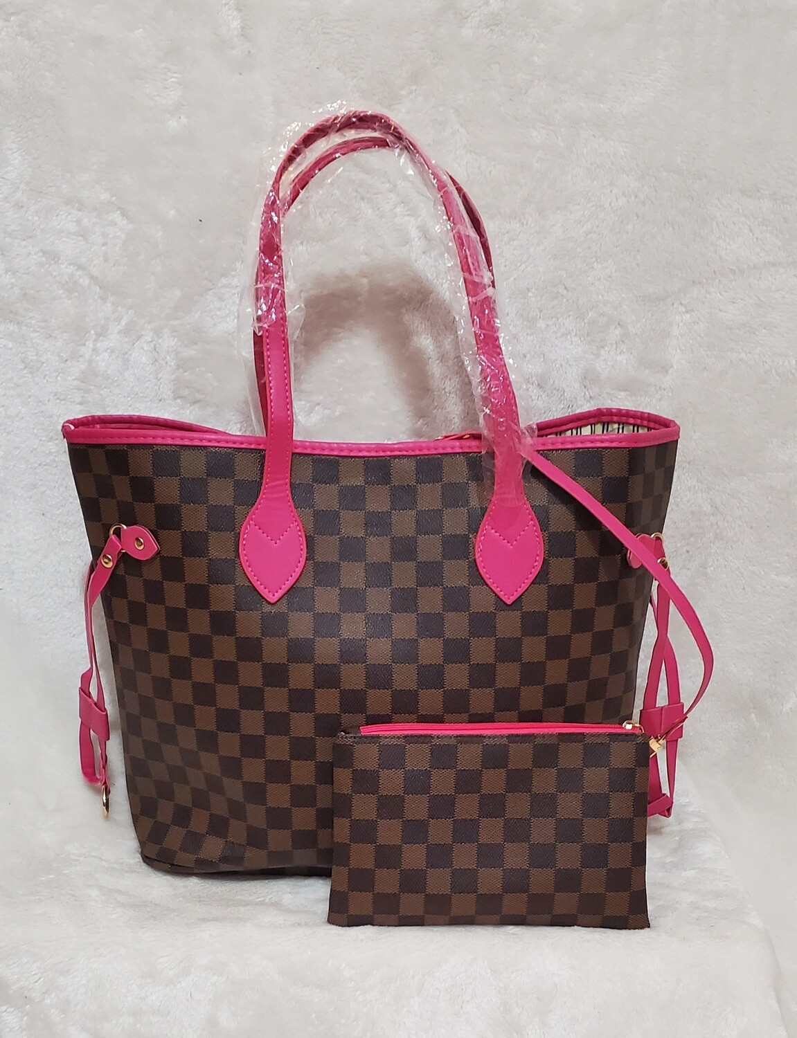 Neverful  Inspired Brown Pink Handles  (Unbranded)