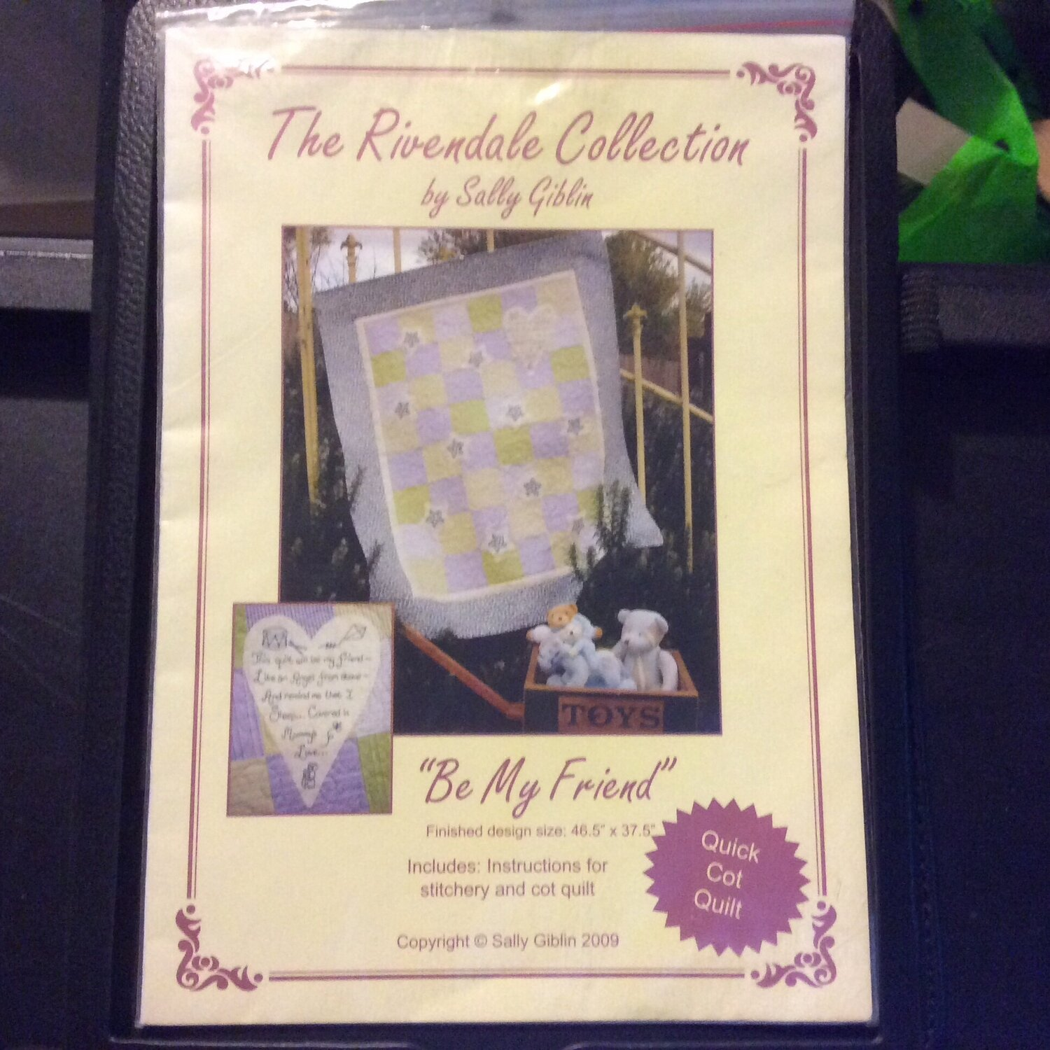 The Rivendale Collection - Be My Friend Cot Quilt