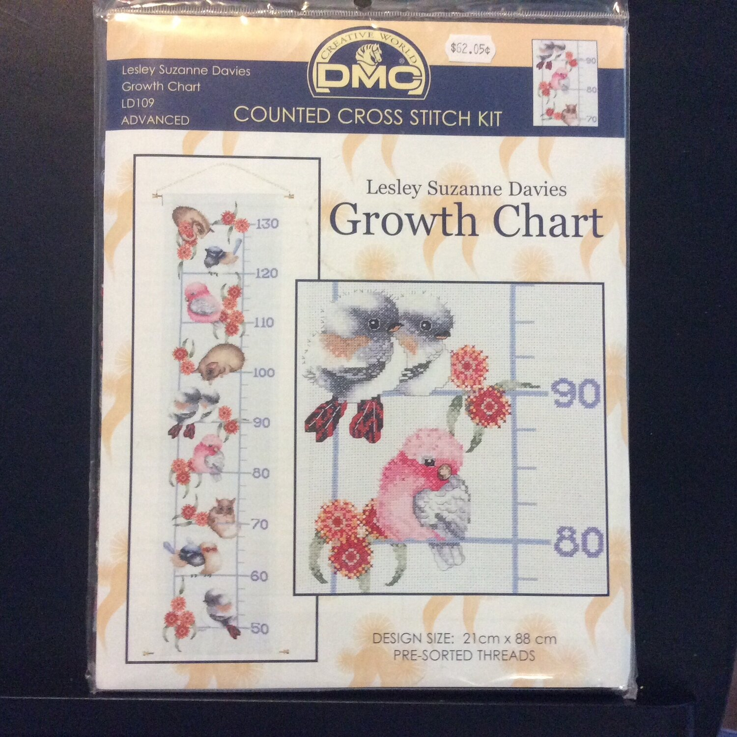 Australian Growth Sampler Counted Cross Stitch Kit 14cnt Design by Lesley Suzanne Davies Beutron