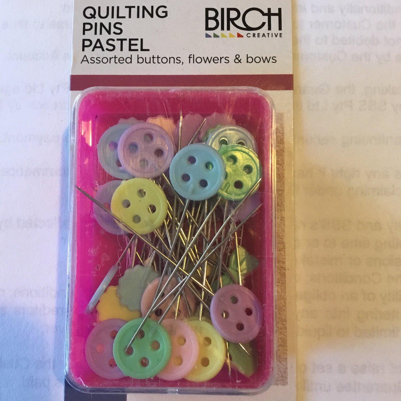 Birch Quilting Pastel Pins 50pc (012009)