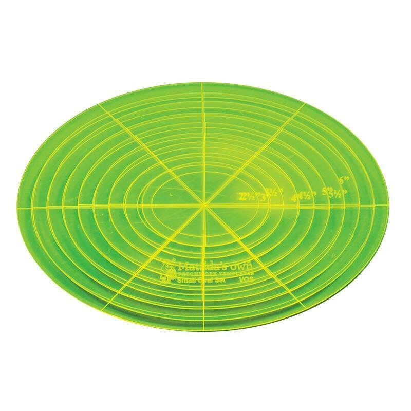 """Template Set Oval (2.0"""" - 6.0"""") 6pc - Sml (VOS)"""