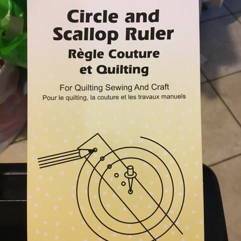 "Sew Easy Circle & Scallop Ruler 18""x2"""