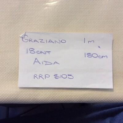 Aida 18ct w.180cm Cream (GR-ETA-C) /50cm increment
