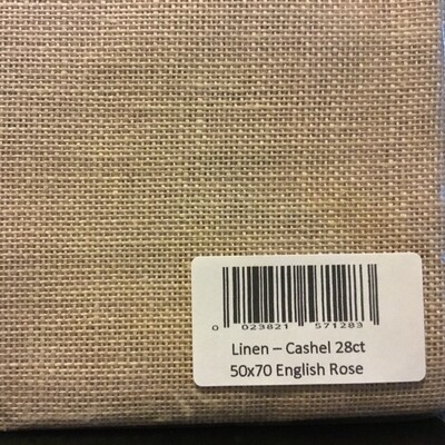 Linen Cashel 28ct English Rose Fat Qtr