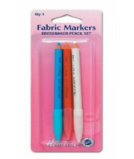 Hemline Fabric Marker Chalk Pencil 3pc (294)
