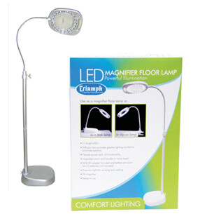Triumph LED Floor Magnifying Lamp - White (OD109)
