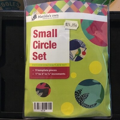 Template Set Circle 9pc (1