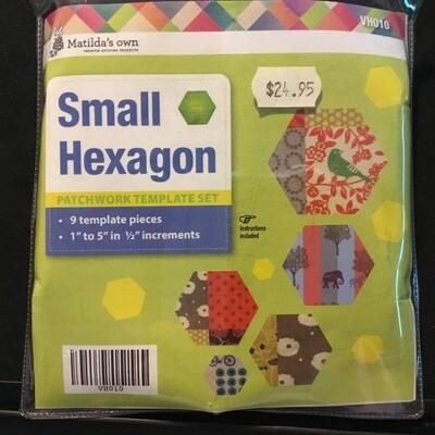 "Template Set Hexagon (1.0""-5.0"") 9pc - Sml (VH010)"