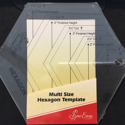 Sew Easy Hexagon Multi Size 1