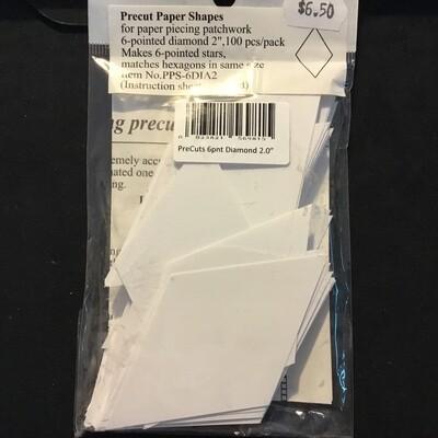 "Pre-Cut Paper Diamond 60deg - 2.0"" (100)"