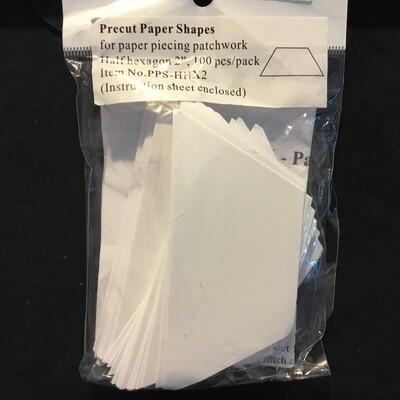 """Pre-Cut Paper Hexagon Half - 2.0"""" (100)"""