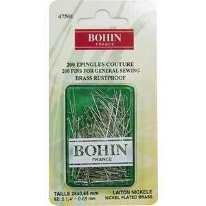 Bohin Brass Pins 200pc (47501)
