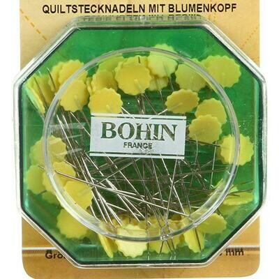 Bohin Flower Head Pins Yellow 50pc (26662)