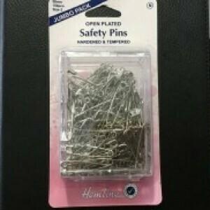 Hemline Open Plated Safety Pins 38mm (417.2.150)
