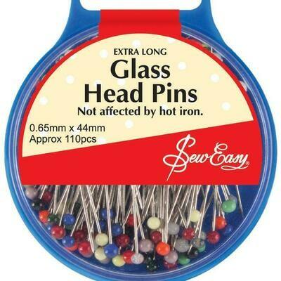 Sew Easy Glass Head Pins 110pc (ER679.L)