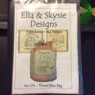 Ella & Skysie Designs - Thread Bear Bag (174)