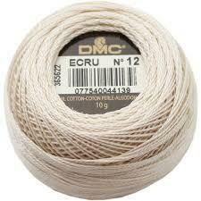 DMC116 Perle 12 Ball Ecru