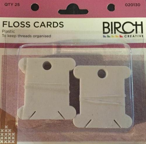 Birch Plastic Floss Cards 50/pkt (012206)